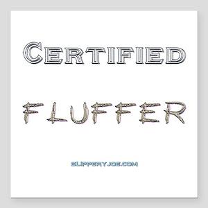"""Fluffer-1 Square Car Magnet 3"""" x 3"""""""