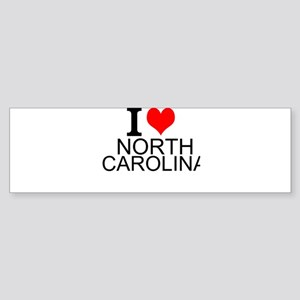 I Love North Carolina Bumper Sticker