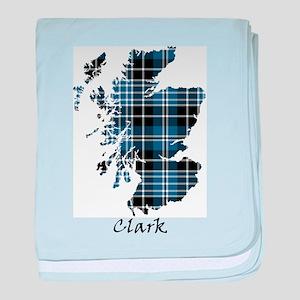 Map - Clark baby blanket