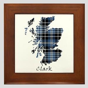 Map - Clark Framed Tile