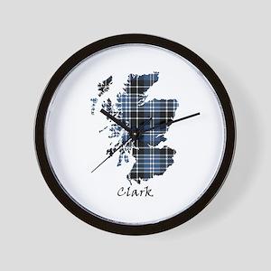 Map - Clark Wall Clock
