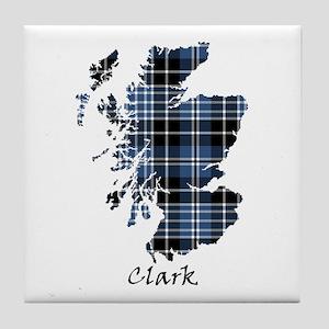Map - Clark Tile Coaster