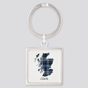 Map - Clark Square Keychain