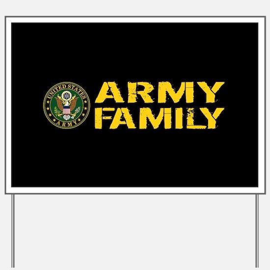 U.S. Army: Army Family (Black & Gold) Yard Sign