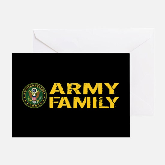 U.S. Army: Army Family (Black & Gold Greeting Card