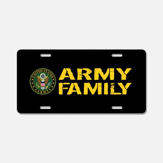 U.S. Army: Army Family (Bla Aluminum License Plate