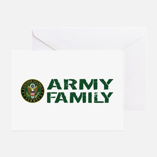 U.S. Army: Army Family (Green & Whit Greeting Card