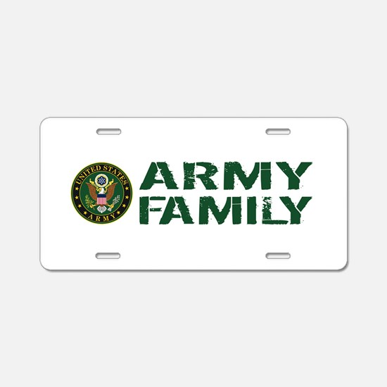 U.S. Army: Army Family (Gre Aluminum License Plate