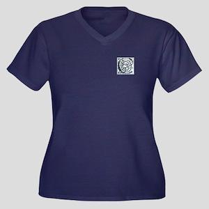 Monogram - C Women's Plus Size V-Neck Dark T-Shirt