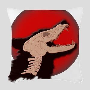 Blood Moon Werewolf Woven Throw Pillow
