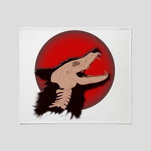 Blood Moon Werewolf Throw Blanket