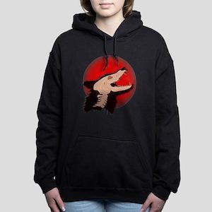 Blood Moon Werewolf Women's Hooded Sweatshirt