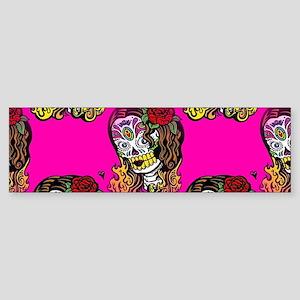 Sugar Skull Girl Bumper Sticker