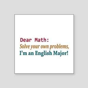 Math Solve Your Own Problems Sticker