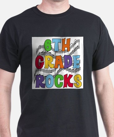 Bright Colors 6th Grade T-Shirt