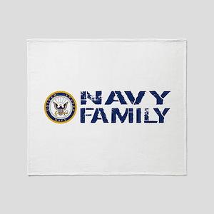 U.S. Navy: Navy Family (Blue & White Throw Blanket