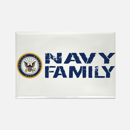 U.S. Navy: Navy Family (Blue & Wh Rectangle Magnet