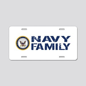 U.S. Navy: Navy Family (Blu Aluminum License Plate