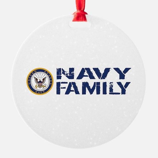 U.S. Navy: Navy Family (Blue & Whit Ornament