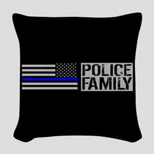 Police: Police Family (Black F Woven Throw Pillow