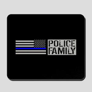 Police: Police Family (Black Flag, Blue Mousepad