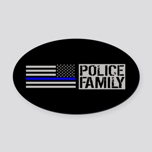 Police: Police Family (Black Flag, Oval Car Magnet