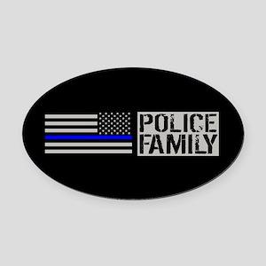 Police: Police Family (Black Flag, Oval Car Magnet