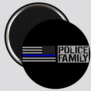 Police: Police Family (Black Flag, Blue Lin Magnet