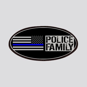Police: Police Family (Black Flag, Blue Line Patch