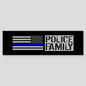 Police: Police Family (Black Flag Sticker (Bumper)