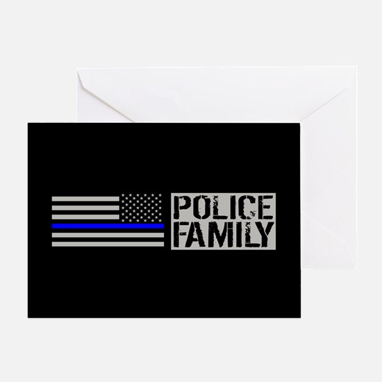 Police: Police Family (Black Flag, B Greeting Card