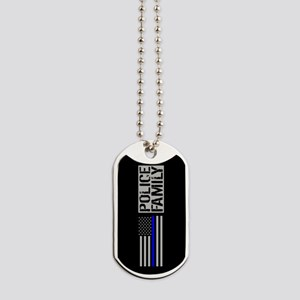 Police: Police Family (Black Flag, Blue L Dog Tags
