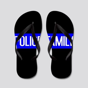 Police: Police Family (The Thin Blue Li Flip Flops