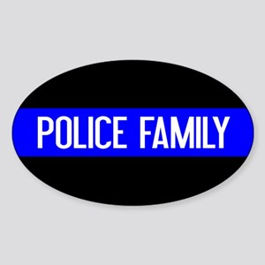 Police: Police Family (The Thin Blu Sticker (Oval)