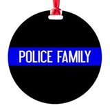 Thin blue line Round Ornament