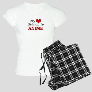 My heart belongs to Anime Women's Light Pajamas