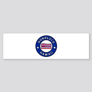 Honolulu Hawaii Bumper Sticker