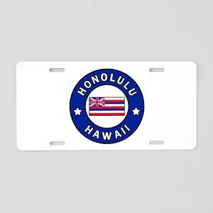 Honolulu Hawaii Aluminum License Plate