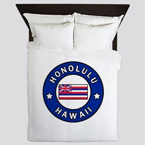 Honolulu Hawaii Queen Duvet