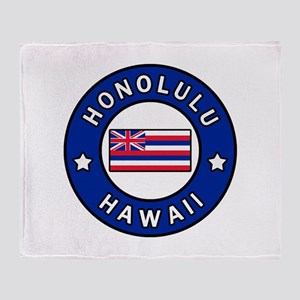 Honolulu Hawaii Throw Blanket