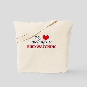 My heart belongs to Bird Watching Tote Bag