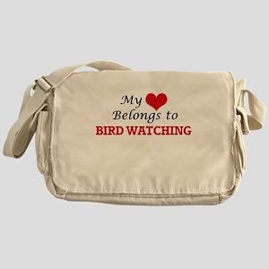 My heart belongs to Bird Watching Messenger Bag
