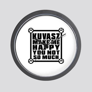 Kuvasz Dog Make Me Happy Wall Clock