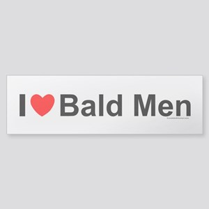 Bald Men Sticker (Bumper)