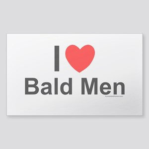 Bald Men Sticker (Rectangle)
