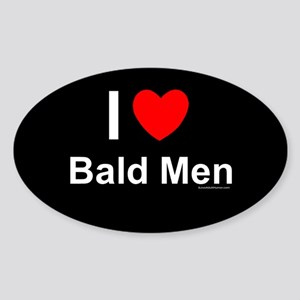 Bald Men Sticker (Oval)