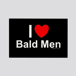 Bald Men Rectangle Magnet