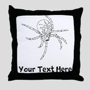 Black Widow Spider Throw Pillow
