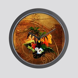 Summer design, toucan with palm and flowers Wall C