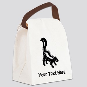 Skunk Canvas Lunch Bag